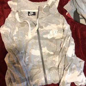 Nike camo zip up jacket